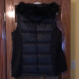Michael Kors Puffer vest with faux fur hood